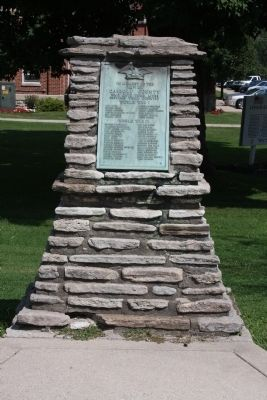 Full View - - World War I & World War I I Memorial - - Carroll County, Kentucky Marker image. Click for full size.