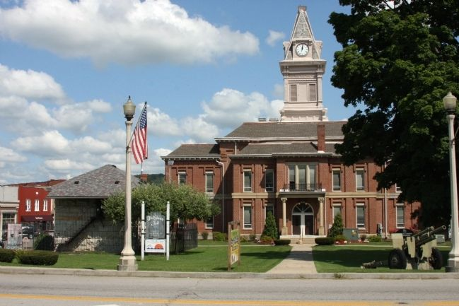 "Carroll County ""Historic Jail""  -and- Current ""Courthouse"" - - Carrollton, Kentucky image. Click for full size."