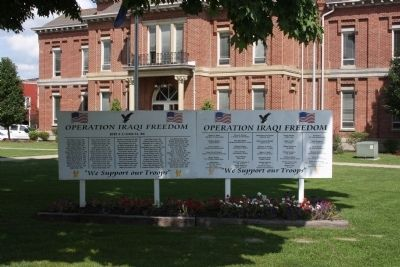 """Current Conflicts""  - -  Carroll County War Memorial image. Click for full size."