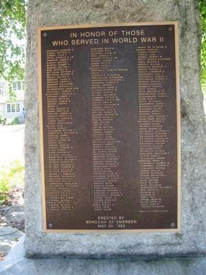 World War II Tablet ( on the back of the stone) image. Click for full size.