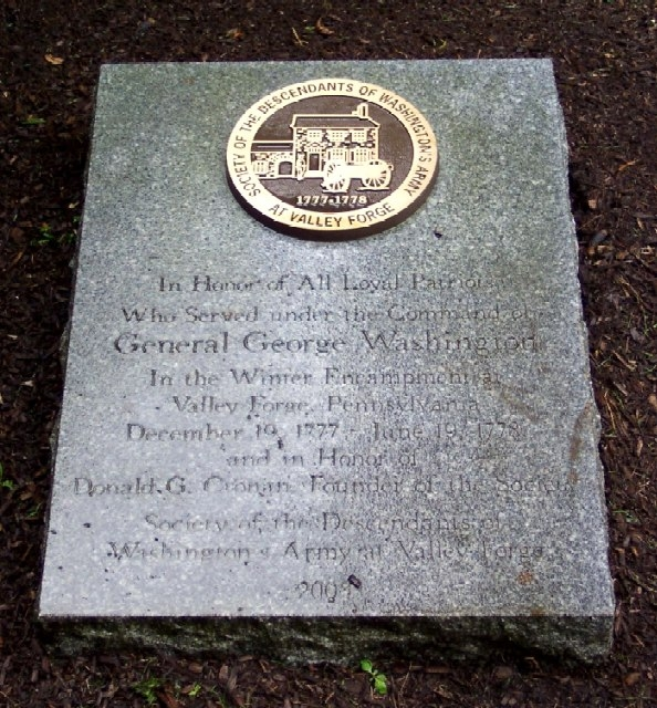 Loyal Patriots of Valley Forge Marker