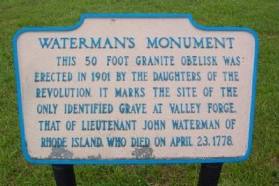 Waterman's Monument Marker image. Click for full size.