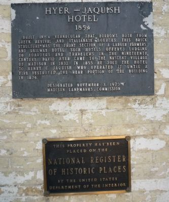 Marker and National Register of Historic Places Plaque image. Click for full size.