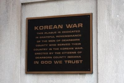Korean War Memorial - - Dearborn County Indiana Marker image. Click for full size.