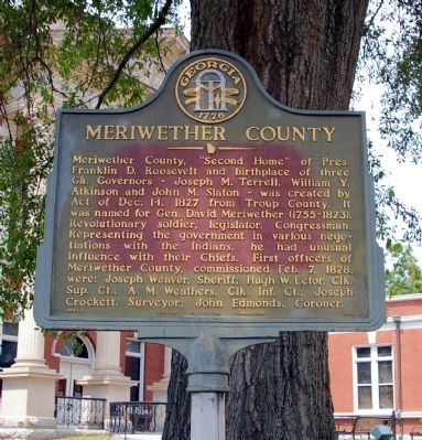 Meriwether County Marker image. Click for full size.