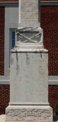 Lexington County Confederate Monument - Southeast Inscription image. Click for full size.