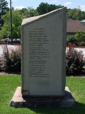 Lexington County World War I Monument -<br>Northwest Inscription (African-American) image. Click for full size.