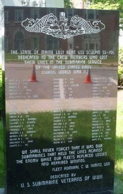 Memorial to the USS SCULPIN (SS-191) image. Click for full size.