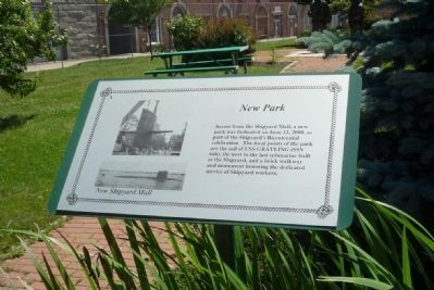 New Park [New Shipyard Mall] Marker image. Click for full size.