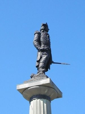 Closeup of Kosciuszko Statue image. Click for full size.