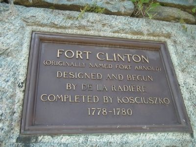 Fort Clinton Marker image. Click for full size.
