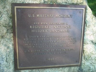 U.S. Military Academy Marker image. Click for full size.