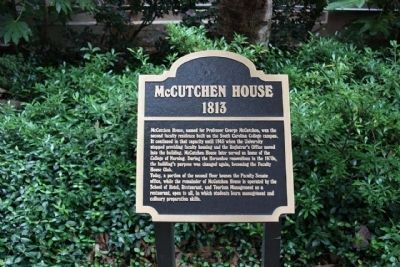 McCutchen House Marker image. Click for full size.