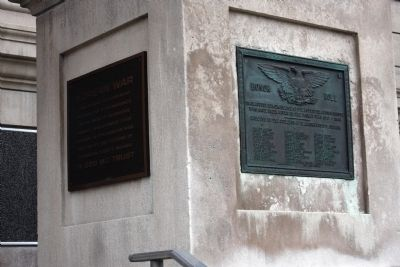 Wide View - - World War I War Memorial Marker image. Click for full size.
