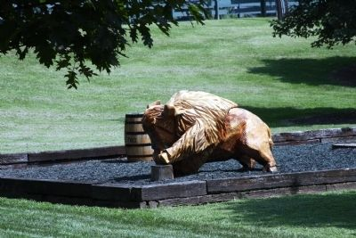One of the Wood Carved Buffalo - Visitor Center image. Click for full size.