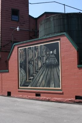 Buffalo Trace Distillery Mural image. Click for full size.