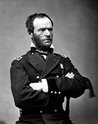 Gen. William T. Sherman<br>(1820 &#8211; 1891) image. Click for full size.