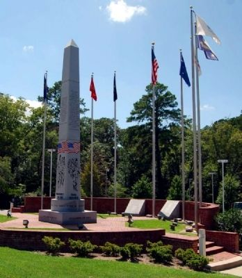 Lexington County Veterans Monument -<br>Northeast Corner image. Click for full size.