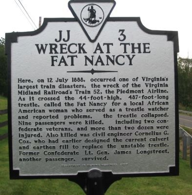 Wreck at the Fat Nancy Marker image. Click for full size.