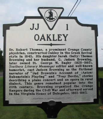 Oakley Marker image. Click for full size.