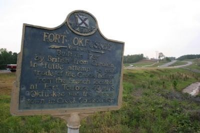 Fort Okfuskee Marker image. Click for full size.