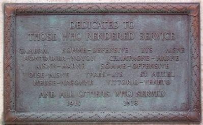 Montgomery County World War Memorial Marker image. Click for full size.