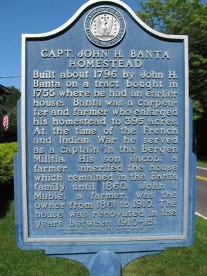Capt. John H. Banta Homestead Marker image. Click for full size.