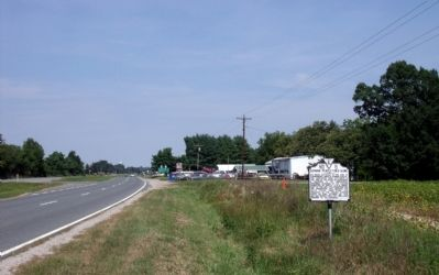 Edmund Pendleton's Home Marker on US Rte 301 (facing north). image. Click for full size.