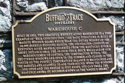 Buffalo Trace Distillery - - Warehouse C Marker image. Click for full size.