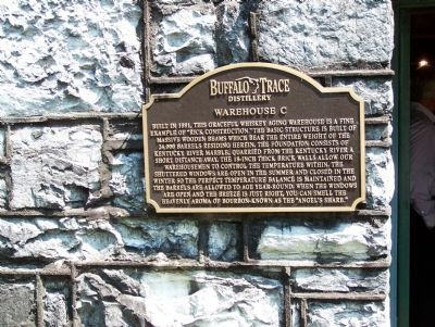 Wider - - Buffalo Trace Distillery - - Warehouse C Marker image. Click for full size.