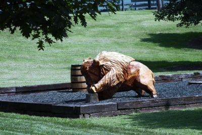 One of the Wood Carved Buffalo at the Visitors Center. image. Click for full size.