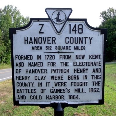 Hanover County Marker image. Click for full size.