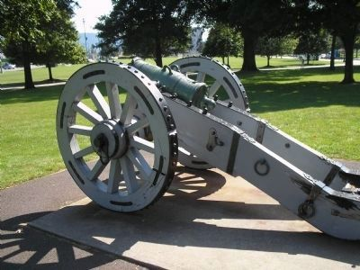 Revolutionary War Howitzer image. Click for full size.