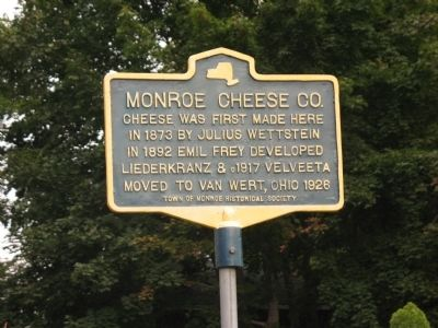 Monroe Cheese Co. Marker image. Click for full size.