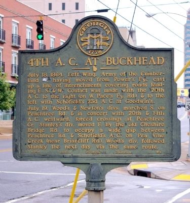 4th A.C. at Buckhead Marker image. Click for full size.