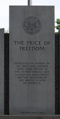 The Price of Freedom Marker image. Click for full size.