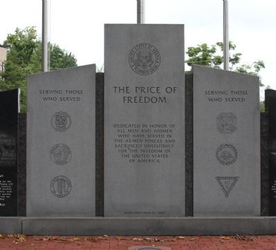 Center Section - - The Price of Freedom Marker image. Click for full size.
