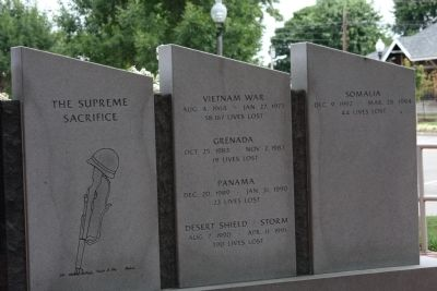 Second Right Section - - The Price of Freedom Marker image. Click for full size.