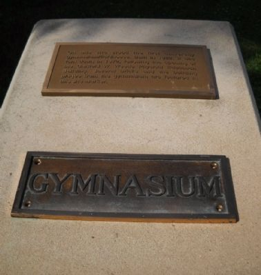 Pittsburg State University Gymnasium Marker image. Click for full size.