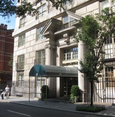 131 East 66th Street - Front Entrance, Showing Columns and Broken Pediment image. Click for full size.