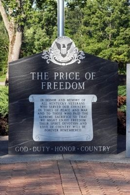 Center Panel - The Price of Freedom Marker image. Click for full size.