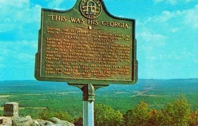 "Original ""This Was His Georgia"" Marker at Dowdell's Knob image. Click for more information."