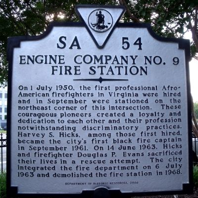 Engine Company No. 9 Fire Station Marker image. Click for full size.