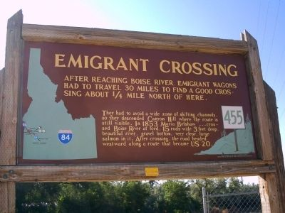 Emigrant Crossing Marker image. Click for full size.