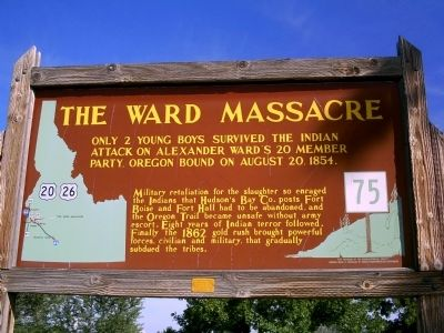 The Ward Massacre Marker image. Click for full size.