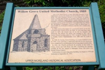 Willow Grove United Methodist Church, 1889 Marker image. Click for full size.