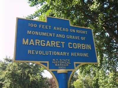 Margaret Corbin Marker image. Click for full size.