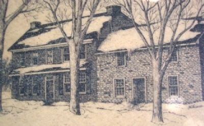 The Manor House, ca. 1719, Drawing on Marker image. Click for full size.