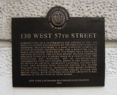 130 West 57th Street Marker image. Click for full size.