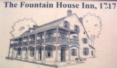 The Fountain House Inn Drawing on Marker image. Click for full size.